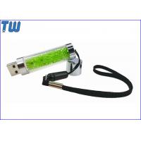 China Long Stick Transparent Rhinestone 1GB USB Flash Pen Drive Free Lanyard on sale