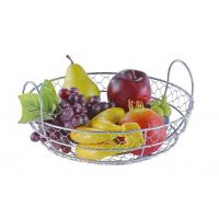 Cheap Food Grade Metal Mesh Wire Fruit Basket Stainless Steel Material For Home Storage for sale