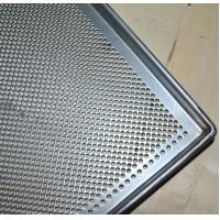 Quality Metal Perforated Baking Serving Tray For Oven , Stainless Steel Food Tray wholesale