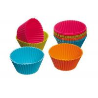 Quality Colorful Cupcake Silicone Baking Cups , Silicone Baking Mould wholesale