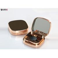 Buy cheap Plating Cosmetic Packaging Empty Compact Powder Case With Puff from wholesalers