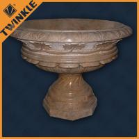 Cheap large outdoor stone flower pots for garden for Large garden stones for sale