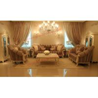 Quality High End Romantic Sofa set made by Solid Wooden Frame with Leather and Fabric Cushion wholesale
