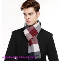 China Cashmere Men scarf, Square lattice scarves for man & boys with fashion European design on sale
