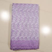 Cheap Sign Organza Lace Curtain Fabric , Embroidered for sale