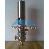 Quality Stainless Steel Pneumatic M21 Type Flow Diversion Valve Food Grade Handle Divert Seat Valve wholesale