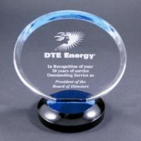 Quality Clear Round Acrylic Award Trophy With Laser Engraving Logo For Gift wholesale