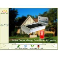 China 0.6W Solar LED Wall Light Outdoor Solar Powered Security Lights With Motion Sensor on sale