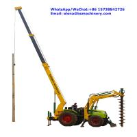 Buy cheap Integrated Tractor Crane Pole Erection Machine For Cement Poles Pit Digging from wholesalers
