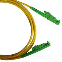 China LSZH 3.0mm cable diameter Single-mode low insertion loss E2000 Fiber Optic Patch Cord on sale