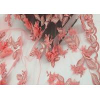Quality Water Soluble Orange Mesh Lace Fabric Embroidery Small Flower For Dress wholesale