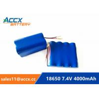 Cheap 7.4V 4000mAh 2S2P 18650 battery pack for printer, remote control car grade A quality for sale