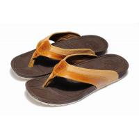 Quality New designer leather mens fashion slipper/flip-flops,Top personality beach t-imberlan shoe wholesale