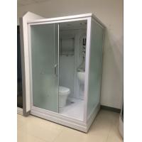 Cheap Square Complete Shower Enclosures Shower House With Washroom / Mirror / Toilet for sale