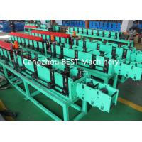 Quality Fenestrated Shutter Door Frame Roll Forming Machine 5.5kw Power PLC Control System wholesale