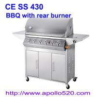 Cheap Gas Barbecue Grill with Rear Burner for sale