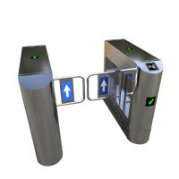 Quality Bank Swing Barrier Automatic Turnstiles RFID Swing Glass Gate For Access Control System wholesale