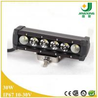 Quality 30W auto led light bar single row 4x4 atv led off road light bar wholesale