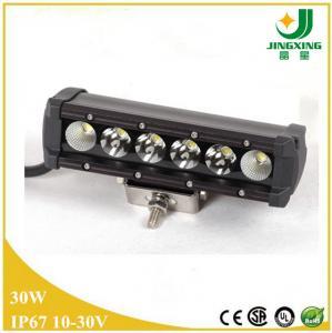 Quality 30W single row led work light bar 12v waterproof led light bar for cars wholesale