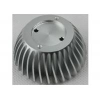 Quality Anodized CNC Aluminium Parts , LED Bulb Light Stamped / Extruded Heat Sink wholesale