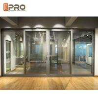 Quality Tempered Aluminium Double Sliding Doors With Single / Double Glass wholesale