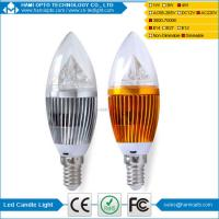 China Dimmable Milky white E14 Led Candle Bulb Clear glass High Lumens on sale