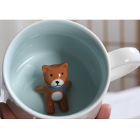 Quality Single Layer White 3D Promotional Ceramic Coffee Mugs wholesale