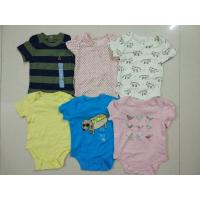 Buy cheap baby outfits Cheap brand clothes stock Gap infant cotton short sleeve pattern rompers cute bodysuits jumpsuits from wholesalers
