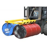 China Horizontal Double Drum Grabber Forklift Attachment 900KG Load Capacity Forklift Drum Lifter on sale