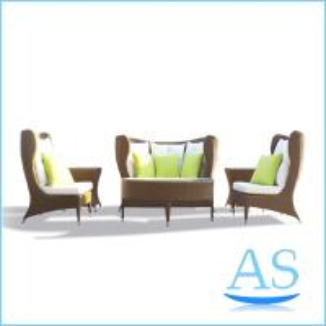 China sofa foshan furniture aluminium sofa set patio sofa set rattan cube garden furniture SR19 on sale