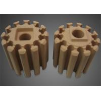 China Brown Industrial Ceramic Parts , Roller Ceramic Tube in High Temperature Bobbin Heaters on sale