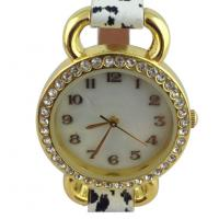 Quality Analog Display Womens Quartz Watches Leopard Leather Strap wholesale