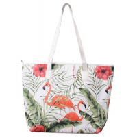 Quality Polyester Large Beach Bag Tote Unisex Fashion With PU Handle wholesale