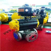 Quality 3 PCS Threaded Pneumatic Ball Valve with Limited Switch wholesale