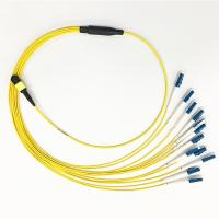 China SM G657A2 MPO To LC Breakout Cable 3.0mm 12 Fiber For Data Communication Network on sale