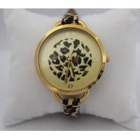 China Ladies Leopard Leather Strap Watches Stylish Women Dress Watch With Gold Face on sale