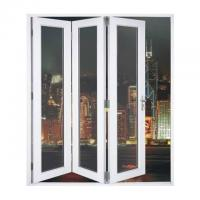 Quality Waterproof Aluminum Frame Folding Glass Patio Doors With Louver wholesale