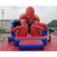 Quality Commercial Spiderman Inflatable Bouncy Castle Slide Full Printing Combi Bouncer wholesale