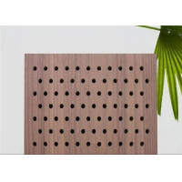 China Wood Grain 2mm Thick MDF Pegboard For Product Display on sale