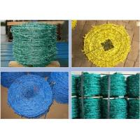 Quality Livestock Green PVC Coated Barbed Wire Fence With Great Rust Resistance wholesale