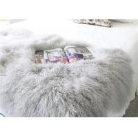 """Quality Real Grey Curly Hairs Tibetan Lamb Fur Smooth Warm 48'' X 24""""  For Home / Hotel wholesale"""