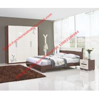 Quality Budget Hotel furniture in modern deisgn by panel bed and doors wardrobe in high glossy wholesale