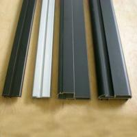 Cheap Black Powder Coated RAL9006 Aluminium LED Profiles / Aluminum Extrusion Profiles for sale