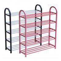 Quality H275 Metal And PP Plastic Space Saving Shoe RackWith Molded Plastic Support Frames wholesale