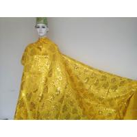 Quality Gloden Yellow Organza Lace Fabric For Evening Dress wholesale
