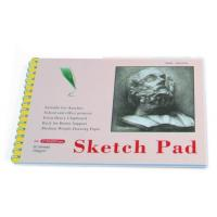 Quality White Paper Pencil Sketch Pad Drawing Book , Spiral Sketch Drawing Pad wholesale