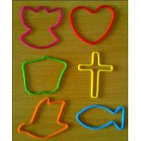 Quality 190 mm Red / Yellow / Blue Silicone Elastic Rubber Bands, Silly Band Bracelets For Girls wholesale