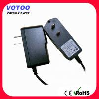 Cheap High efficiency 12V AC DC Power Adapter 2 Flat Pin Plug for CCTV security for sale