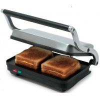 2 Slices Home Panini Grill With Die Cast Aluminum Arms CETL Certificate