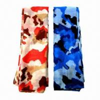 China Fashionable Voile Scarves with Camouflage Pattern Printed, Various Colors are Available on sale